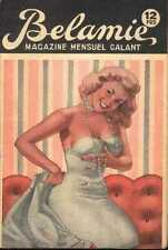 BELAMIE 1960s sexy Revue Magazine curiosa Pinup jewelry illustration cheesecake