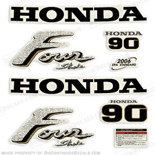 Honda 90hp 4-Stroke Outboard Decal Kit - Reproduction Decals in Stock fourstroke