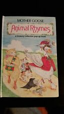 MOTHER GOOSE - ANIMAL RHYMES  Vintage 1992 HARDCOVER POP-UP