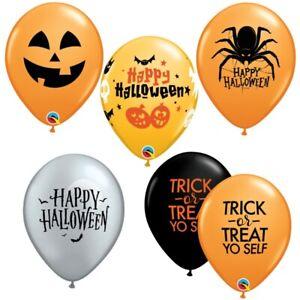 28cm Halloween Latex Balloons Party Decorations Supplies Pumpkin Bat Spider Web