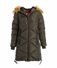 MSRP $210 Canada Weather Gear Olive Faux Fur Quilted Puffer Jacket Size Medium