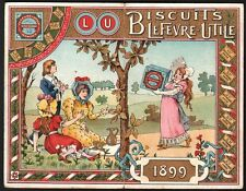 Calendrier Biscuits Lefevre-Utile. 1899. Art Nouveau