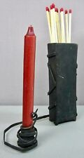 IRON SCULPTURE__Candle/Match Holder__Heavy Welded Brutalist Genre_ExC_SHIPS FREE
