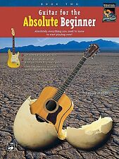 """ALFRED """"GUITAR FOR THE ABSOLUTE BEGINNER"""" MUSIC BOOK 2-TWO/CD BRAND NEW ON SALE"""