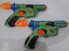 Vintage Nerf 2003 SINGLE SHOT DART BLASTER DART GUN RARE GREEN Lot of 2