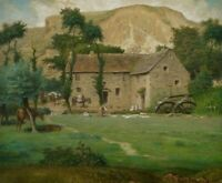 The Farm House Jean Francois Millet HQ Painting Giclee Canvas Painting 8x10 SM
