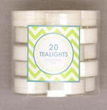 20 Pcs Unscented White Tealight Tea Light Candles Wedding Party Decoration BULK
