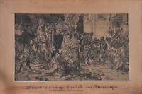 Sándor Liezen-Mayer (1839-1898): Abschied der Heilige Elisabeth, drawing
