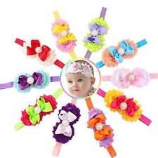 ModaStyle 10 Pieces Baby Headbands Girl Headband Head Wear Flower Multicolored