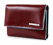 Piquadro Blue Square Wallet with Flap Rosso