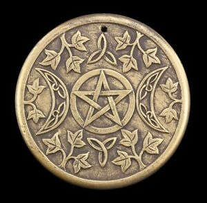 Wandrelief Wicca - Triple Moon aus Terrakotta Lisa Parker - Magie Ritual Hexerei