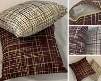 2 x Brown Dark Cushion Covers Linen 45 x 45 cm Square Pillow Covers Home Décor