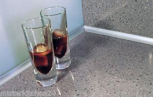 Wandabschlußprofil System Rehau Edelstahloptik Wischleiste Arbeitsplatte Küche