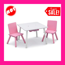 Children Kids Table and Chair Set (2 Chairs Included) - Ideal for Arts & C
