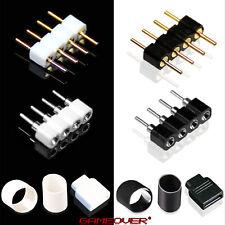 🔴 LED Stecker Steck Verbinder Strip 4 Pin Pol RGB Zubehör Adapter 5050 3528 ✅