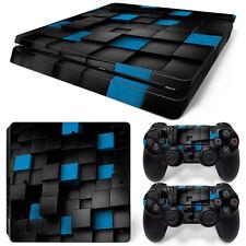 Sony PS4 Playstation 4 Slim Skin Aufkleber Schutzfolie Set - Pixel 2 Motiv