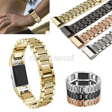 Replacement Rhinestone Watch Band Wrist Strap Bracelet +Tool For Fitbit Charge 2