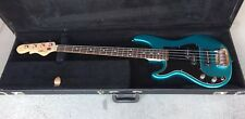 Lefty G&L SB2 USA made Bass Guitar from the 90's. Emerald Blue Metallic