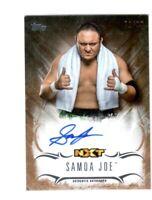WWE Samoa Joe 2016 Topps Undisputed Bronze On Card Autograph SN 71 of 99