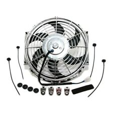 """S-Blade Curved 12"""" Chrome Universal Electric Radiator Cooling Fan / Mounting Kit"""