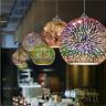 LED Cylinder Chandelier 3D Glass Ceiling Lamp Pendant Light Fireworks Lighting