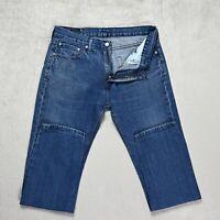 Mens LEVIS 508 Jeans Slim fit Tapered leg Size W32 L32 Mid Blue denim trousers