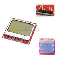 84*48 84x48 LCD Module Blue backlight adapter PCB for Nokia 5110 NEW