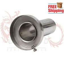 "4"" Round Tip Silencer Exhaust Muffler Removable Stainless for Acura Honda"