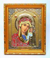 Ikone Gottesmutter von Kazan geweiht икона Богородица Казанская 20,5x17,5x1,7 cm