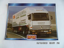 CARTE FICHE CAMION TRACTEUR CABINE AVANCEE RENAULT MAJOR R 3850TI HIGHLINER 1995