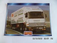 CARTE FICHE CAMION TRACTEUR CABINE AVANCEE RENAULT MAJOR R 3850TI HIGHLINER 1995