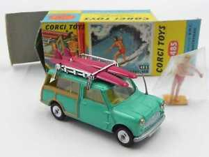 Corgi Toys 485 BMC Mini countryman surfing w/box vintage die cast set surf