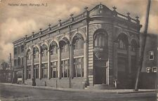 NJ - 1911 RARE! National Bank at Rahway, New Jersey - Union County