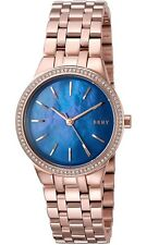 Women's DKNY Park Slope Rose Gold Steel Crystallized Watch NY2573