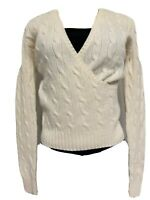 Polo Ralph Lauren Beige Cream Off White Cashmere Blend Sweater Size Small S EUC