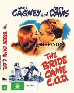 The Bride Came C.O.D. DVD James Cagney Bette Davis 1941 New Sealed Australia