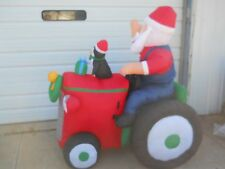 Holiday Living Santa on Tractor Inflatable ANIMATED Rocking Lighted Airblown