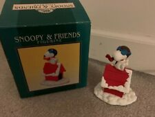 Snoopy & Friends Figurine Snoopy Pilot Doghouse with Box Christmas 1997