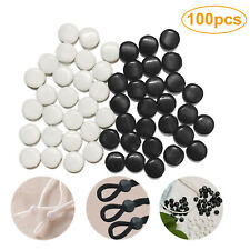100 pcs Cord Stopper Silicone Locks Toggle Elastic Mask Adjuster Buckle Fastener