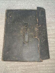 Antique Civil War HOLY BIBLE American Bible Society 1863 Pocket Size