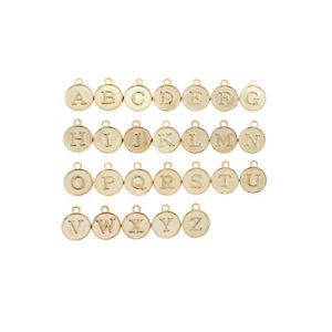 26 Alphabet Letter Gold Tone Charms - 1 Set - ALPHA2800