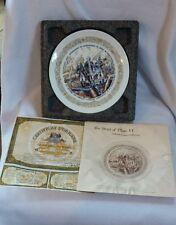D'Arceau Limoges Lafayette Legacy Collection Porcelain Plate #Vi w/ Coa & Story