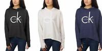 Calvin Klein Jeans Women's Relax Hooded Pullover Shirt Lightweight CK Logo Front