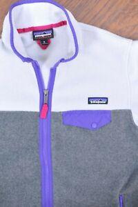 Patagonia Synchilla Full-Zip Snap-T Fleece Jacket Gray / Purple Women's Medium M