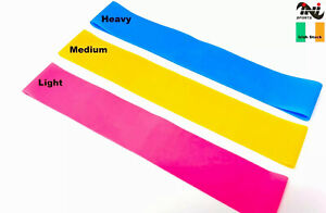 INI Resistance Bands Exercise Loop Crossfit Strength Weight Training Fitness 3pc