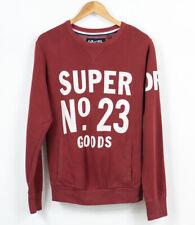 Superdry Jersey Suéter Cuello Redondo Rojo Hombre Talla M