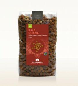 (€9,80/1Kg) Cosmoveda Kala Chana - Schwarze Kichererbsen - 3er pack (3x500g)