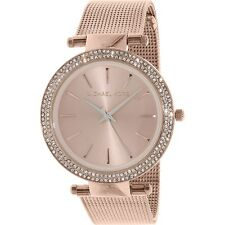 Michael Kors MK3369 Ladies Rose Gold Mesh Darci Watch - 2 Year
