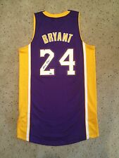 Kobe Bryant Autographed Authentic Lakers Jersey Panini COA Black Mamba