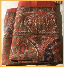 RARE! RALPH LAUREN *Pair GALAHAD Red *KING PILLOWCASES Vintage Paisley Medieval